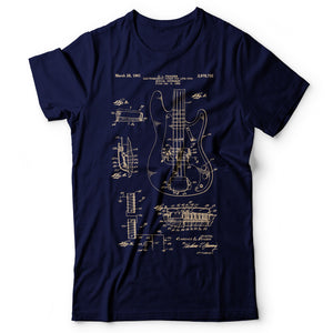 Bass Guitar Patent - Men's T-Shirt Navy Blue