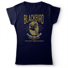 Load image into Gallery viewer, The Beatles - Blackbird - Women's T-Shirt Navy Blue 2