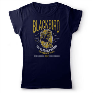 The Beatles - Blackbird - Women's T-Shirt Navy Blue 2
