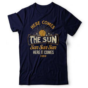 The Beatles - Here Comes The Sun - Men's T-Shirt Navy Blue