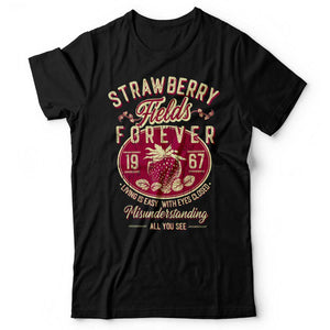 The Beatles - Strawberry Fields Forever - Men's T-Shirt Black