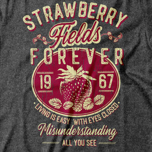 The Beatles - Strawberry Fields Forever - Men's T-Shirt Detail