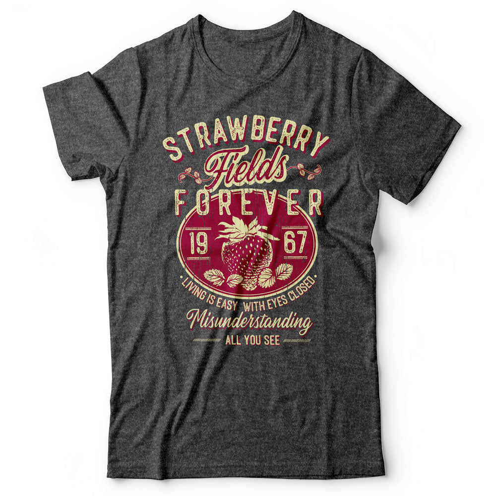 The Beatles - Strawberry Fields Forever - Men's T-Shirt Gray