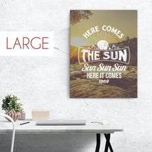 Load image into Gallery viewer, The Beatles - Here Comes The Sun - Large Canvas