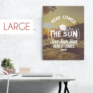 The Beatles - Here Comes The Sun - Large Canvas