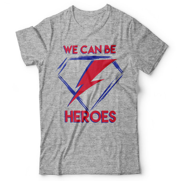 David Bowie - Heroes - Men's T-Shirt Gray