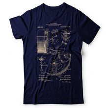 Load image into Gallery viewer, Drums Patent - Men's T-Shirt Navy Blue