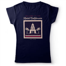 Load image into Gallery viewer, Eagles - Hotel California - Women's T-Shirt Navy Blue 2