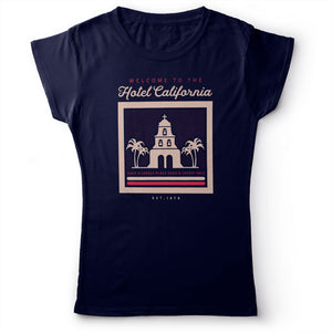 Eagles - Hotel California - Women's T-Shirt Navy Blue 2