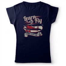 Load image into Gallery viewer, Foo Fighters - Learn To Fly - Women's T-shirt Navy Blue 2