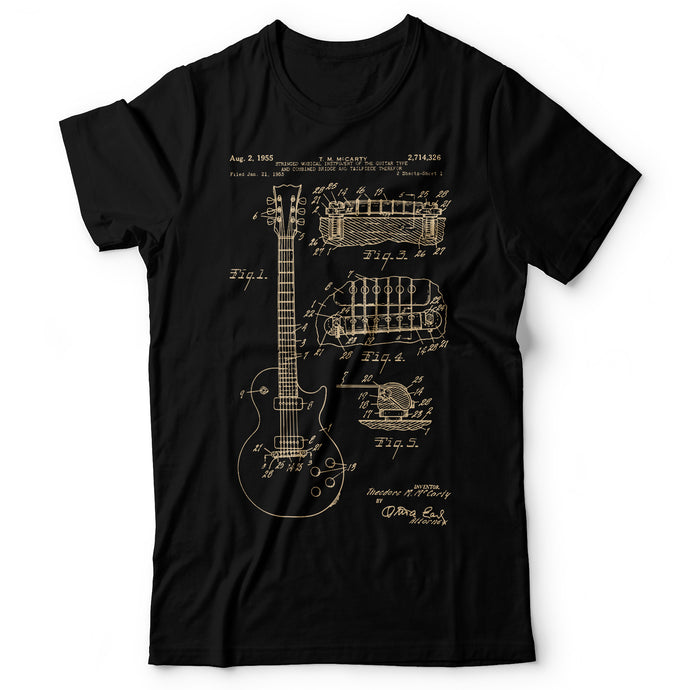 Guitar Patent Gibson - Men's T-Shirt