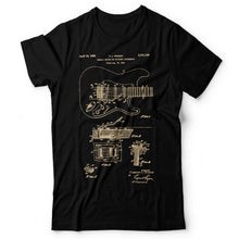 Load image into Gallery viewer, Guitar Patent - Men's T-Shirt Black