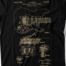Load image into Gallery viewer, Guitar Patent - Men's T-Shirt Detail