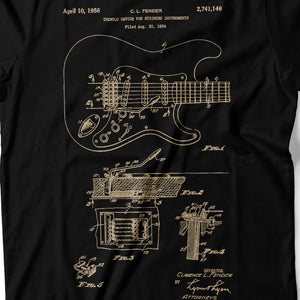 Guitar Patent - Men's T-Shirt Detail