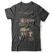 Load image into Gallery viewer, Guitar Patent - Men's T-Shirt Gray