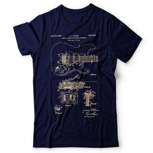 Guitar Patent - Men's T-Shirt Navy Blue