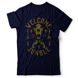 Guns N' Roses - Welcome To The Jungle - Men's T-Shirt Navy Blue