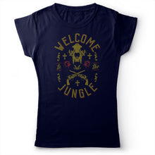 Load image into Gallery viewer, Guns N' Roses - Welcome To The Jungle - Women's T-Shirt Navy Blue 2