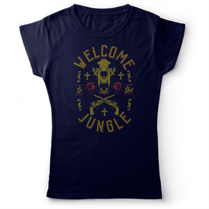 Guns N' Roses - Welcome To The Jungle - Women's T-Shirt Navy Blue 2