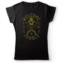 Load image into Gallery viewer, Guns N' Roses - Welcome To The Jungle - Women's T-Shirt Black 2