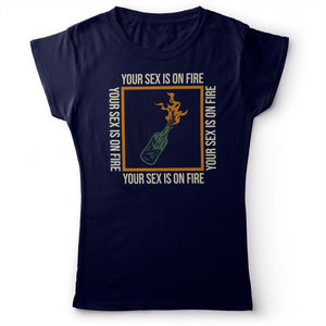 Kings Of Leon - Sex On Fire - Women's T-shirt Navy Blue 2