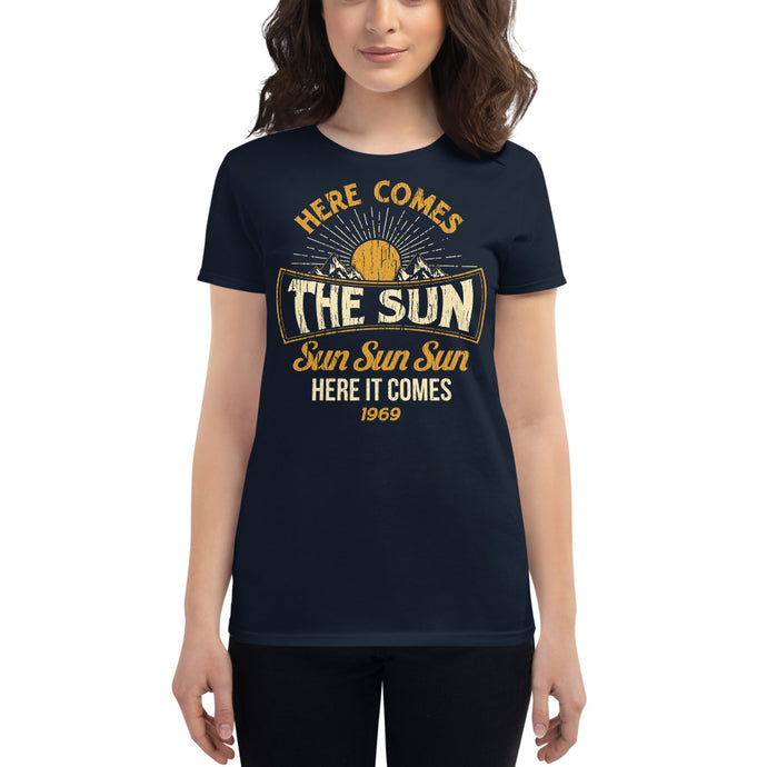 The Beatles - Here Comes The Sun - Women's T-Shirt Navy Blue