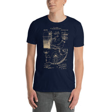 Load image into Gallery viewer, Drums Patent - Men's T-Shirt Navy Blue 2
