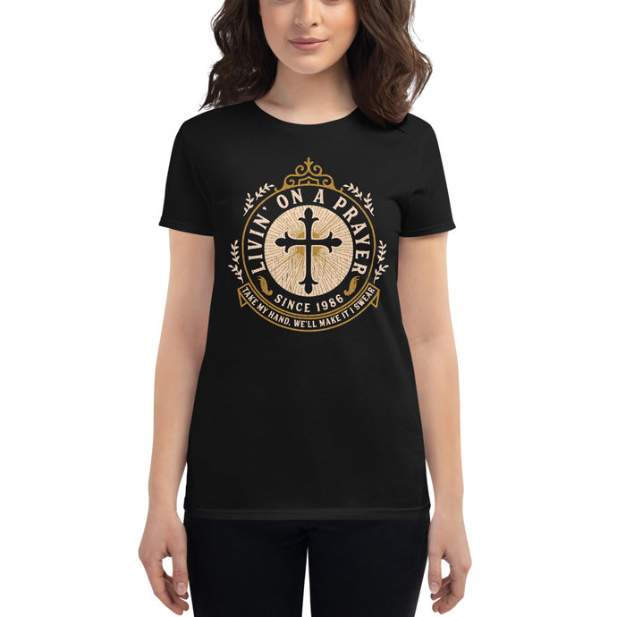 Bon Jovi - Livin' On A Prayer - Women's T-Shirt Black