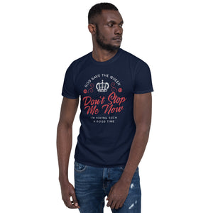 Queen - Don't Stop Me Now - Men's T-Shirt Navy Blue 2