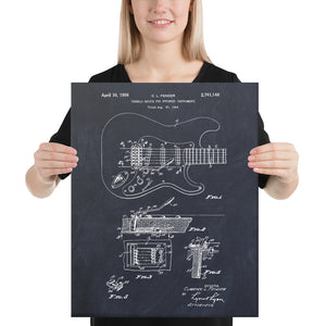 Guitar Patent Canvas