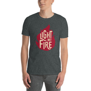 The Doors - Light My Fire - Men's T-Shirt Gray 2
