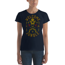 Load image into Gallery viewer, Guns N' Roses - Welcome To The Jungle - Women's T-Shirt Navy Blue