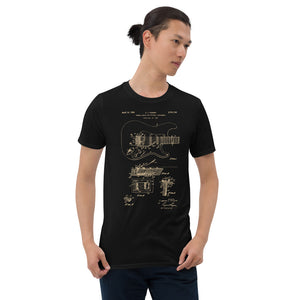 Guitar Patent - Men's T-Shirt Black 3