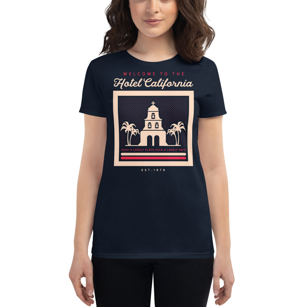 Eagles - Hotel California - Women's T-Shirt Navy Blue