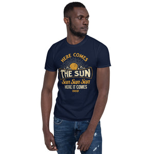 The Beatles - Here Comes The Sun - Men's T-Shirt Navy Blue 2