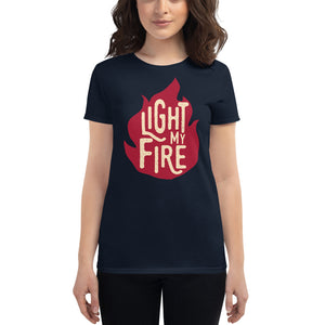 The Doors - Light My Fire - Women's T-Shirt Navy Blue