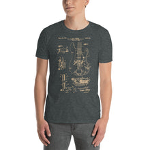 Load image into Gallery viewer, Bass Guitar Patent - Men's T-Shirt Gray 2