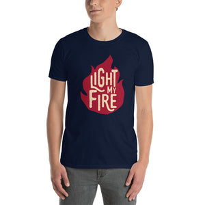 The Doors - Light My Fire - Men's T-Shirt Navy Blue 2
