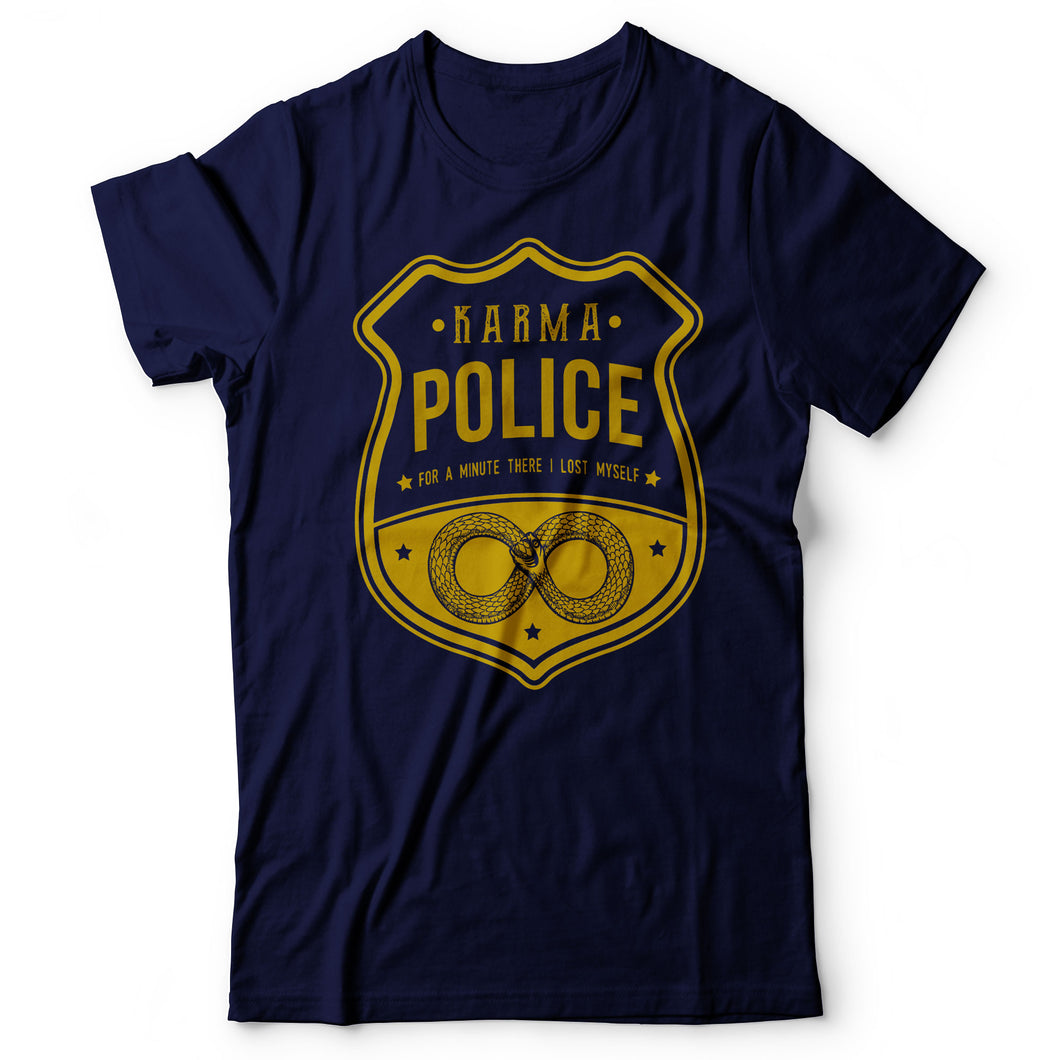 Radiohead - Karma Police - Men's T-shirt Navy Blue