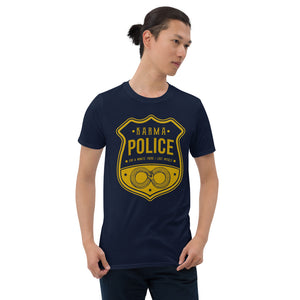 Radiohead - Karma Police - Men's T-shirt Navy Blue 2