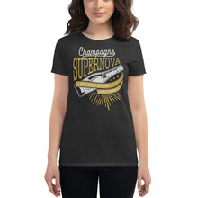 Load image into Gallery viewer, Oasis - Champagne Supernova - Women's T-shirt Heather Dark Grey