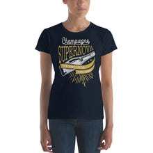 Load image into Gallery viewer, Oasis - Champagne Supernova - Women's T-shirt Navy Blue