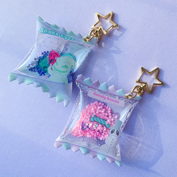 Snake Eyes Candy Bag Keychains