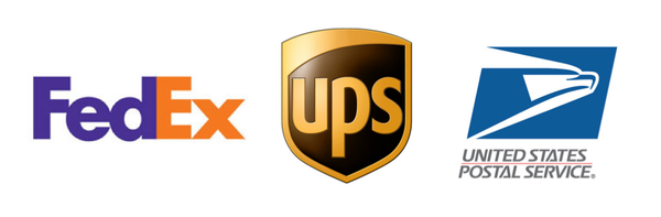 We ship using USPS, UPS & FedEx.