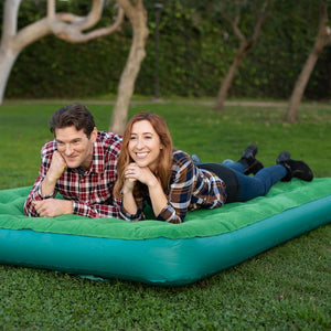 Inflatable Air Mattress Portable Air Bed with Built-in Battery Pump (Queen) - Simpli Comfy Inflatable Air Mattress