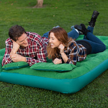 Load image into Gallery viewer, Inflatable Air Mattress Portable Air Bed and 2 Inflatable Pillows with Portable Battery Pump (Queen) - Simpli Comfy Inflatable Air Mattress