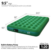 Load image into Gallery viewer, Inflatable Air Mattress Portable Air Bed with Built-in Battery Pump (Queen) - Simpli Comfy Inflatable Air Mattress