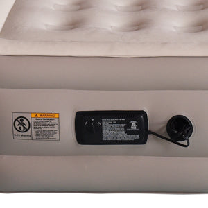"Inflatable Air Mattress 18"" Raised Air Bed with Built-in AC Pump (Twin) - Simpli Comfy Inflatable Air Mattress"