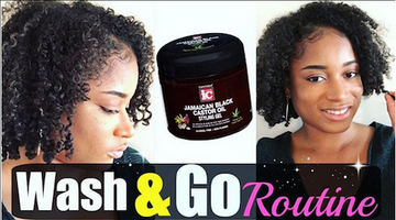 Wash & Go Tutorial ft. Jamaican Black Castor Oil Styling Gel
