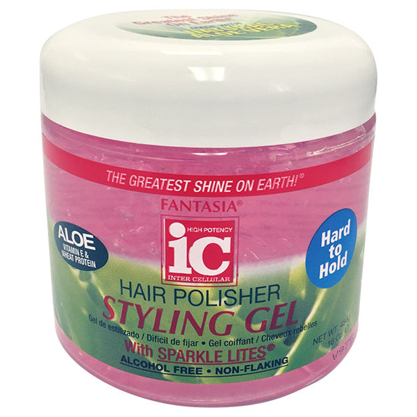 IC HAIR POLISHER ‣ HARD TO HOLD ‣ Styling Gel Jar 16 oz.